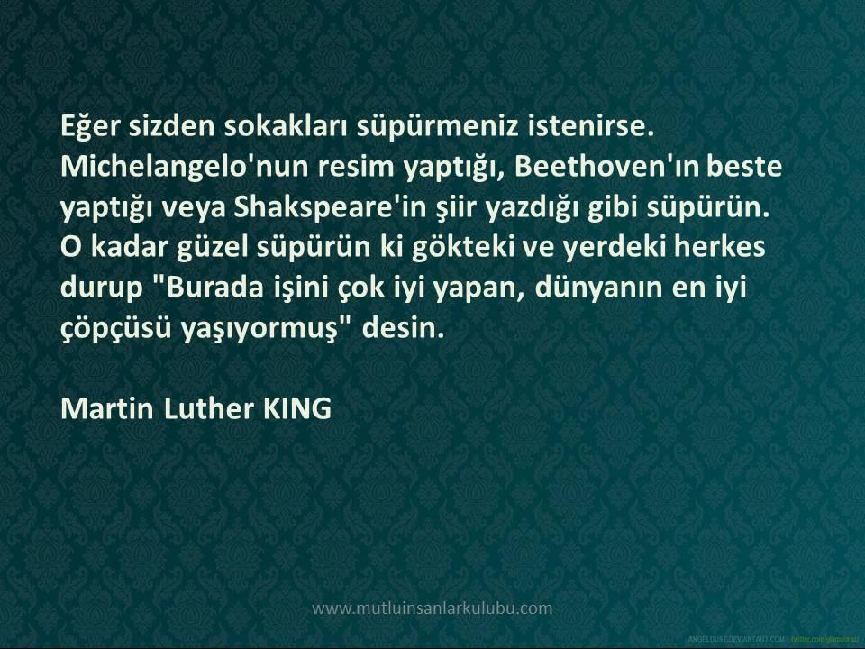 mutlu insanlar kulubu - martin luther king